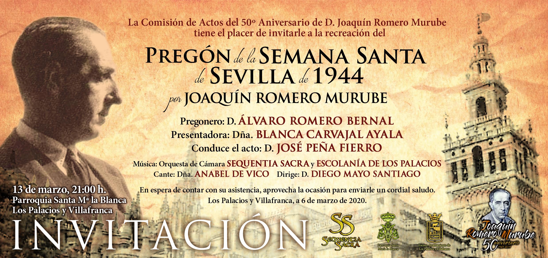 Invitación Pregón JRM Los Palacios